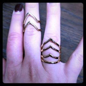 Set of 2 Torrid Chevron Cutout Arrow Shield Rings!